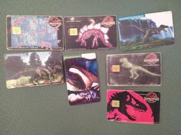 Argentina Phonecards Telecom Telefonica LOT OF 7 Dinosaurs  #11 - Telefonkarten