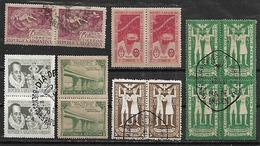 1947 Argentina Paz Mundial-Saavedra-correo Antartico-aeronautica 14v.cuadros Parejas Precancelados - Argentina