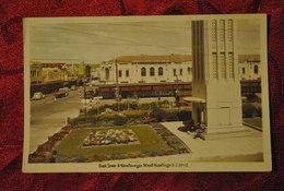Nouvelle Zelande Carte Photo Hastings Clock Tower & Heretaunga Street Circule Par Avion Philatelie - New Zealand