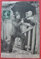 EN AUVERGNE  92 - LA CAUSETTE - Régionalisme Folklore Couple Texte Patois - Auvergne