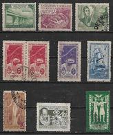 1947 Argentina Paz Mundial-Saavedra-correo Antartico-aeronautica-puente-barco-S.Martin 10v. Parejas - Argentina