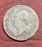ARGENT-15 SOLS AU GENIE LOUIS XVI 1791 A LEOPARD - 1789-1795 Monnaies Constitutionnelles