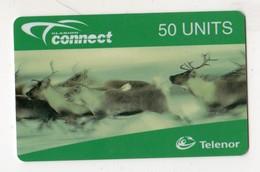 NORVEGE RECHARGE TELENOR 50 U RENNE Exp.date 02/99 MINT - Noorwegen