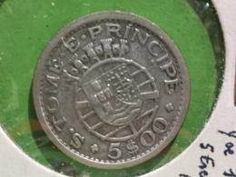 5 Escudos S. Tome Principe 1951 Républica Portuguesa - Santo Tomé Y Príncipe