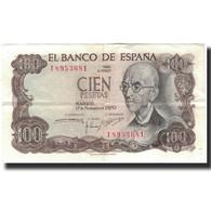 Billet, Espagne, 100 Pesetas, 1970-11-17, KM:152a, TTB - [ 3] 1936-1975 : Régimen De Franco