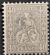 SWITZERLAND 1881 - MLH - Sc# 66 - 40r - 1862-1881 Sitzende Helvetia (gezähnt)