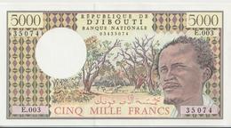 DJIBOUTI P. 38c 5000 F 1990 UNC - Djibouti
