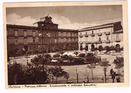 XW 1990 Aversa (Caserta) - Piazza Vittorio Emanuele E Palazzo Candia / Non Viaggiata - Aversa