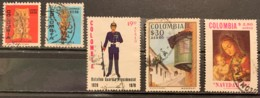 COLUMIBA  - (0)  - 1978 - # C663, 664, 665, 667, 671 - Colombie