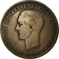 Monnaie, Grèce, George I, 5 Lepta, 1869, Strassburg, TB+, Cuivre, KM:42 - Greece