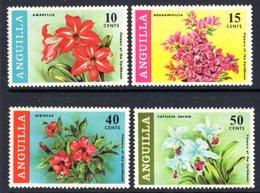 ANGUILLA - 1969 FLOWERS SET (4V) GOOD MOUNTED MINT MM * SG 55-58 - Anguilla (1968-...)