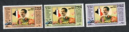 1983 - Iraq - The 4th Anniversary Of President Hussein As Baath Party And State Leader- Flag- Map-Complete Set 3v.MNh** - Iraq