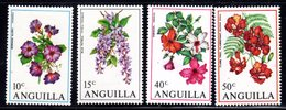 ANGUILLA - 1970 FLOWERS SET (4V) GOOD MOUNTED MINT MM * SG 72-75 - Anguilla (1968-...)