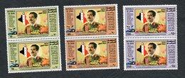 1983 - Iraq - 4ème Anniversaire Du Président Hussein En Tant Que Chef Du Parti Baath Et De L'Etat -Drapeau -Carte - Pair - Iraq