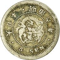 Monnaie, Japon, Mutsuhito, 5 Sen, 1873, TB+, Argent, KM:22 - Japón