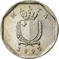Monnaie, Malte, 5 Cents, 1995, British Royal Mint, TTB, Copper-nickel, KM:95 - Malta