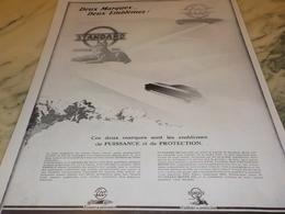ANCIENNE PUBLICITE DEUX MARQUES DEUX EMBLEMES ECO STANDARD  1928 - Vervoer