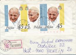 POLEN / POLAND  -  TRCZIANKA  -  1987 ,  Papst Johannes Paul II.  -  Brief Nach Berlin (West) - Machine Stamps (ATM)