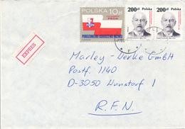 POLEN / POLAND  -  LUBLIN -  1989 ,  Narutowicz , PRON   -  Express - Brief Nach Wunstorf - Machine Stamps (ATM)
