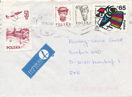 POLEN / POLAND  -  GLOGOW -  1988 ,  STOCKHOLMIA , Kopf Eines Mädchens , Warschauer Schloss  -  Brief Nach Wunstorf - Machine Stamps (ATM)