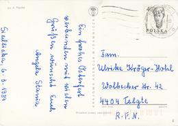 POLEN / POLAND  -  RACIBORZ  -  1989 ,  Kopf Eines Jungen Mädchens  -   Karte Nach Telgte - Machine Stamps (ATM)