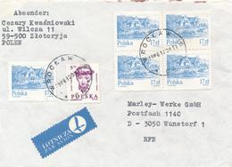 POLEN / POLAND  -  WROCLAW  -  1986 ,  Kopf Eines Mädchens , Speicher In Kazimierz Dolny   -  Brief Nach Wunstorf - Machine Stamps (ATM)