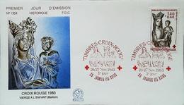 FRANCE - FDC - 1983 (Oblitération Croix Rouge D'Enghien-les-Bains) - VIERGE De Baillon  - Enveloppe Premier Jour - Cruz Roja