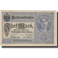 Billet, Allemagne, 5 Mark, 1917, 1917-08-01, KM:56b, SPL - [ 2] 1871-1918 : Impero Tedesco