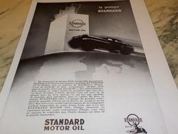 ANCIENNE PUBLICITE LA POMPE STANDARD HUILE STANDARD  1928 - Vervoer