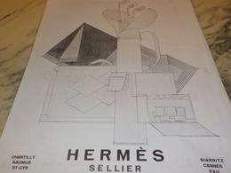 ANCIENNE PUBLICITE GOLF SELLIER HERMES 1928 - Vintage Clothes & Linen