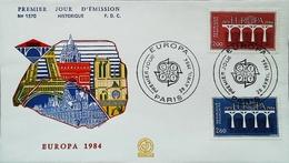 EUROPA - FDC - 1984 (Oblitération CEPT Paris) - Carte De Paris  - Enveloppe Premier Jour - 1984