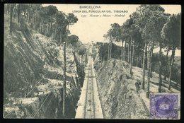 Barcelona Linea Del Funicular Del Tibidabo 1907 Hauser Y Menet - Barcelona