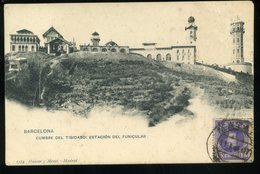 Barcelona Cumbre Del Tibidabo Estacion Del Funicular 1907 Hauser Y Menet - Barcelona