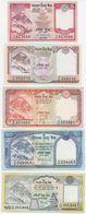 Nepal SET - 5 10 20 50 100 Rupees 2008 2010 - UNC - Nepal