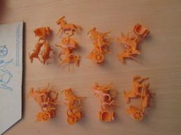 BACPLASTCAV Lot De Figurines 1/72e Plastique Souple ATLANTIC : EGYPTIENS 85 Fantassins + 8 Chars Comme Sur Photos - Militares