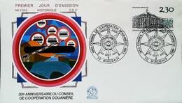 FRANCE - FDC - 1983 (Oblitération Musée Des Douanes Bordeaux) - Anniversaire Coopération Douane - Enveloppe Premier Jour - Other