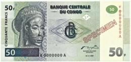 CONGO Democratic Republic - 50 Francs - 1.11.1997 - Pick: 89.s - SPECIMEN - Congo