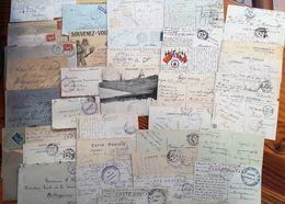 160 Doc.divers MILITARIA - CACHETS REGIMENTS -SECTEURS POSTAUX -FRANCHISE MILITAIRE-POSTE  1902 à 64 -Toutes Guerres(F63 - Postmark Collection (Covers)