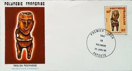 OCEANIE - FDC - 1985 (Oblitération PAPEETE Tahiti) Tikis En Polynésie Française    - Enveloppe Premier Jour - Tahiti