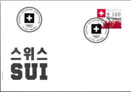 Switzerland FDC 2018 Olympic Games In PyeongChang     (NB**LAR9-92) - Winter 2018: Pyeongchang