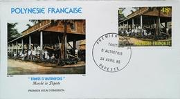 OCEANIE - FDC - 1985 (Oblitération PAPEETE Tahiti) (Le Marché Autrefois) Polynésie Française - Enveloppe Premier Jour - Tahití