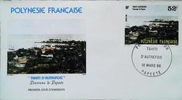 OCEANIE - FDC - 1986 (Oblitération PAPEETE Tahiti) (Le Panorama Autrefois) Polynésie Française - Enveloppe Premier Jour - Tahiti