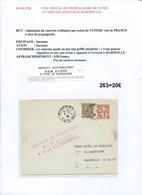 Lettre Par Avion De Tunis (Tunisie) Pour Marseille  (263) - Airmail