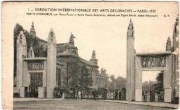 51ek 937 CPA - PARIS - EXPOSITION INTERNATIONALE DES ARTS DECORATIFS 1925 - PORTE D'HONNEUR - Expositions