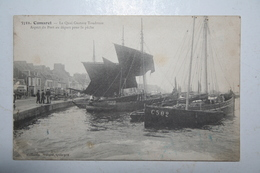 29 : Camaret - Le Quai Gustave Toudouse  - Aspest Du Port Au Départ De La Pêche ( Carte écrite Par Georges G  Toudouze ) - Camaret-sur-Mer