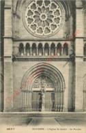 64.  BAYONNE .  L'église St-André .  Le Porche . - Bayonne