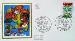 ANTILLES - FDC - 1977 (Oblitération Fort De France) LA MARTINIQUE - Enveloppe Premier Jour - Antillen
