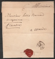 """LSC 1738 De LONDRES Pour OSTENDE - Port """"6"""" - 1714-1794 (Pays-Bas Autrichiens)"""