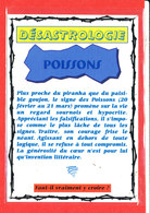 ASTROLOGIE DESASTROLOGIE Poissons Edit Floriscope * Format 15 Cm X 10.5 Cm - Astrology