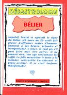 ASTROLOGIE DESASTROLOGIE BELIER Edit Floriscope * Format 15 Cm X 10.5 Cm - Astrology